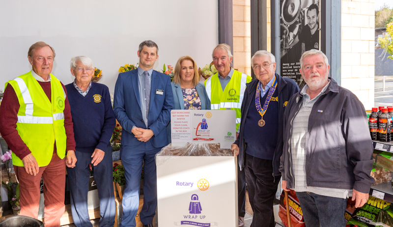 Carnforth Rotarians Support Wrap Up Lancashire Project